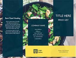 Brochure With Price List Scallops Design