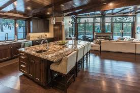 countertop colors for dark wood kitchen cabinets