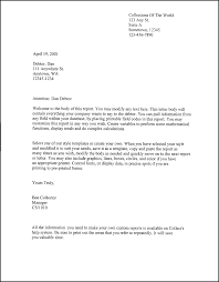 Employee Letter Templates Word Recipe Template Free Download