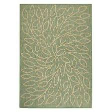persimmon green natural 4 ft x 5 ft area rug