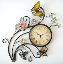 wall clock art metal wall art erfly wall clock decorative wall clock art wall clock art