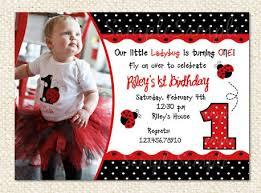 Ladybug Invitations Template Free 1st Ladybug Free Printable Birthday Invitation Templates