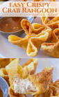 baked crab rangoon with thai ginger lime dipping sauce