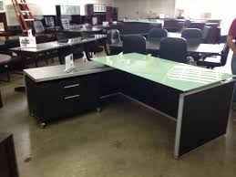 amusing glass top l shaped desk 5 frosted