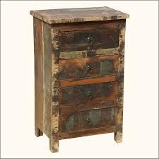 reclaimed wood nightstand. Cool Rustic Reclaimed Wood Nightstands With Four Drawer Nightstand