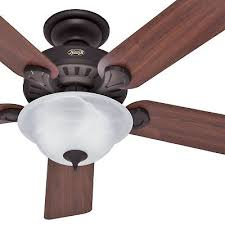 hunter fan 52 inch traditional new bronze indoor ceiling fan with bowl light kit