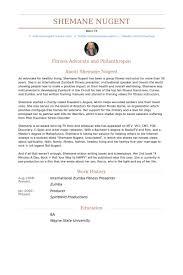 International Zumba Fitness Presenter Resume samples