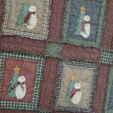 Shabby Snowman Rag Quilt Kit - Jubilee Fabric &  Adamdwight.com