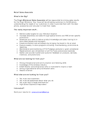 Sample Resume Of Retail Sales Associate Sample Resume For Retail