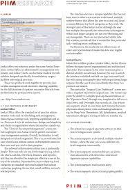 Piim Electronic Medical Record Emr System Review Pdf