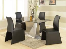 chic contemporary black gloss rectangle dining
