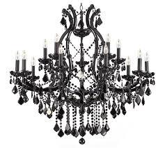 black crystal chandelier a83 black crystal