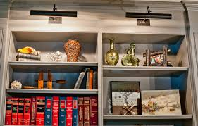 bookcase lighting ideas home office contemporary with vintage grey cabinets bookcase lighting ideas