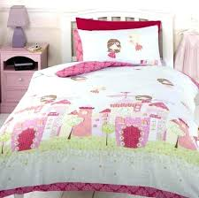 owl toddler bedding girls fairy castle pink and sky blue princess duvet cover intended for childrens sets zoo four piece