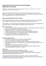 List Of Skills For Employment International Education Services Skills Register