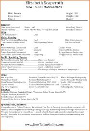 Modeling Beginner Resume Modeling Resume Template Sevte 12
