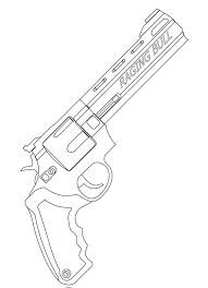 Disegni Da Colorare Pistola Stampabile Gratuito Per