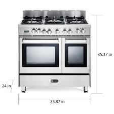 Shop Verona 36 Inch ProStyle DualFuel Double Oven Range  Free Shipping Today Overstockcom 14139620