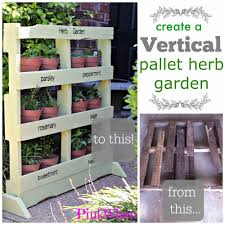 this is going to be a much easier to follow post on how to create this beautiful free standing vertical pallet herb garden and hopefully you will be