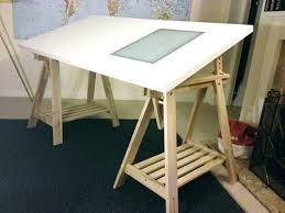 drafting desks ikea trestle table desk drawing board with light box window  chair drafting table ikea
