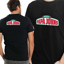 Papa Johns Size Chart Papa Johns Pizza Tee Two Sides New Mens T Shirt Size S To 3xl Cool Casual Pride T Shirt Men Custom T Shirts T Shirt Printing From Cls6688521 13 91