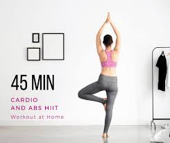 45 min cardio and abs hiit workout at