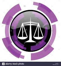 Justice pink violet modern design vector web and smartphone icon ...