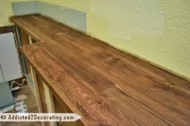 cedar kitchen countertop via addicted2decorating