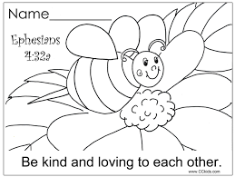 Small Picture Be kind and loving to each other Christian Education