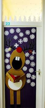Singing Rudolph Christmas Door Decoration. image source