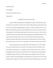 argumentative essay the great gatsby alok acharya acharya  7 pages the great gatsby essay