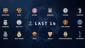 champions league chart 2018 who is in the champions league round of 16 uefa champions