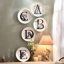 creative ceramic wall animal letters plate decorative wall dishes