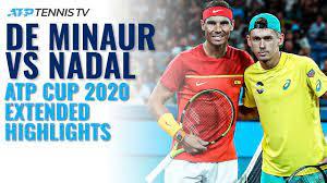 58 on 12 october 2020. Alex De Minaur Vs Rafa Nadal Atp Cup 2020 Extended Highlights Youtube