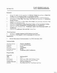 Manual Testing Resume Sample For Experience Software Qa Tester Resume Sample Best Of Resume Sample for Testing 1