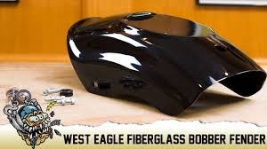west eagle fiberglass bobber rear fender for xl sportsters
