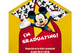 Mickey Graduation Party Online Invitation Disney Family