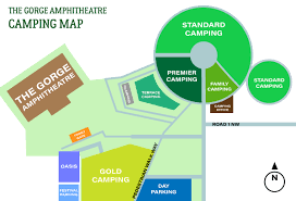 Gorge Amphitheater Seating Chart Gorge Amphitheatre Food Seating And Parking Guide