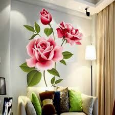3d rose flower romantic love wall sticker removable decal home decor living room bed decals mother s