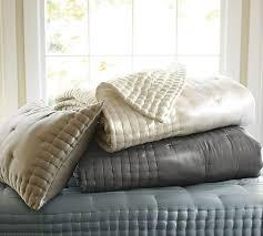 Silk Tufted Quilt & Shams | Pottery Barn & Scroll to Next Item Adamdwight.com