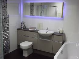 Bathroom:Basic Bathroom Sink With Cabinet And Stainless Minimalist Faucet  Alluring Bathroom With Glowing Mirror