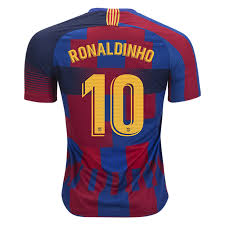 NIKE BARCELONA 2019 AUTHENTIC 20TH ANNIVERSARY `RONALDINHO` JERSEY - Soccer  Plus