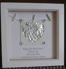 10th wedding anniversary tin gift ideas 10th anniversary gift 10th wedding anniversary gift by timeforgift