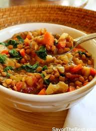 slow cooker y vegetable lentil stew