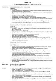 Business Planning Manager Resume Example Sample Templates Demand