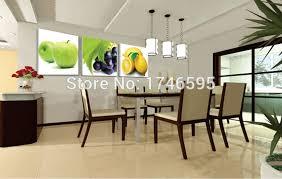 big size 3pcs modern decor restaurant dining room wall art decor apple g lemon