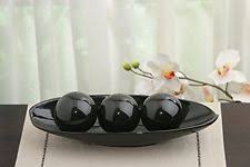 Long Decorative Bowl Ambs100s Elegant Expressions By Hosley Hosleys Black Decorative 82