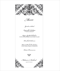 Wedding Menu Template 31 Download In Pdf Psd Word Vector