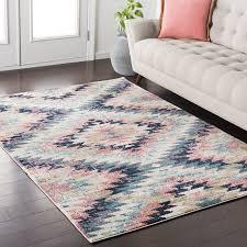 impressive mistana nichole pink area rug reviews wayfair pertaining to pink and blue area rug modern