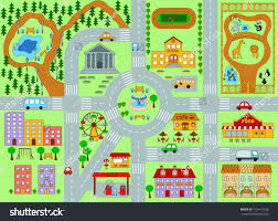 city map kids stock vector   shutterstock